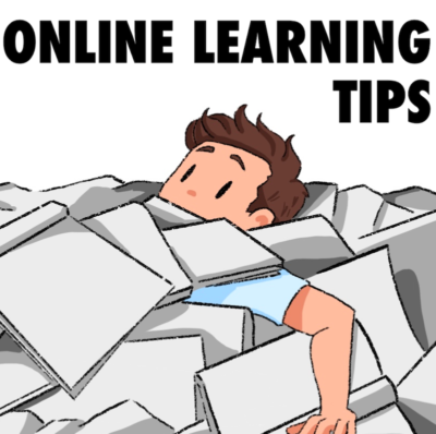 Online Learning tips graphic